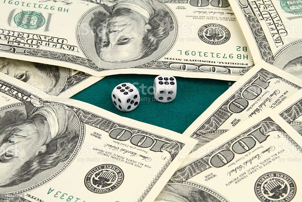 Two gambling dices stock photo