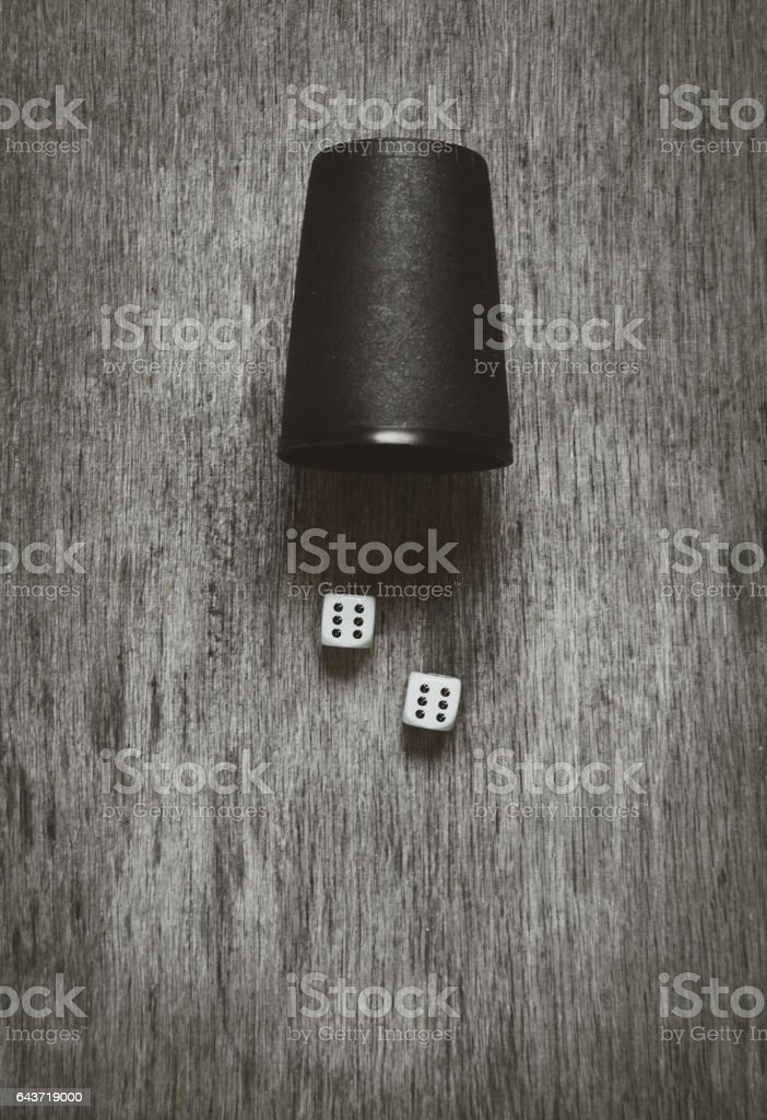 two game dice stock photo