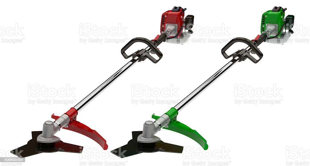 Two garden trimmer stock photo