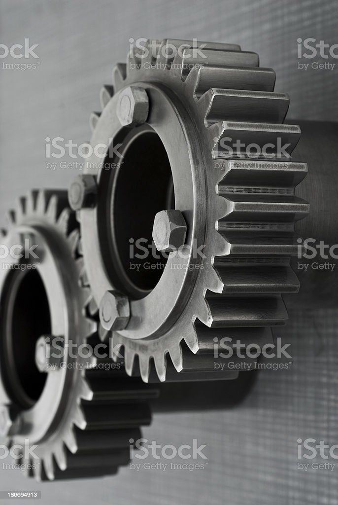 Two gears stock photo