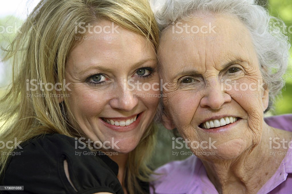 Two generations. royalty-free stock photo