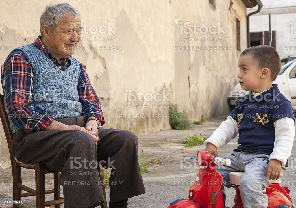 Two generations. stock photo