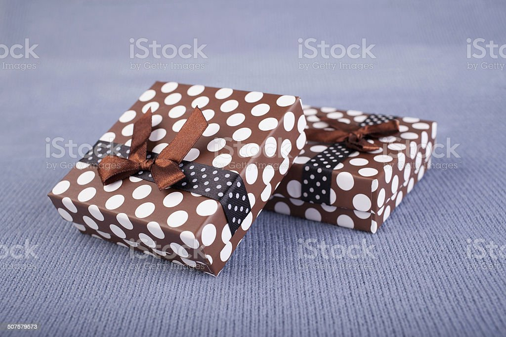 two gift box royalty-free stock photo