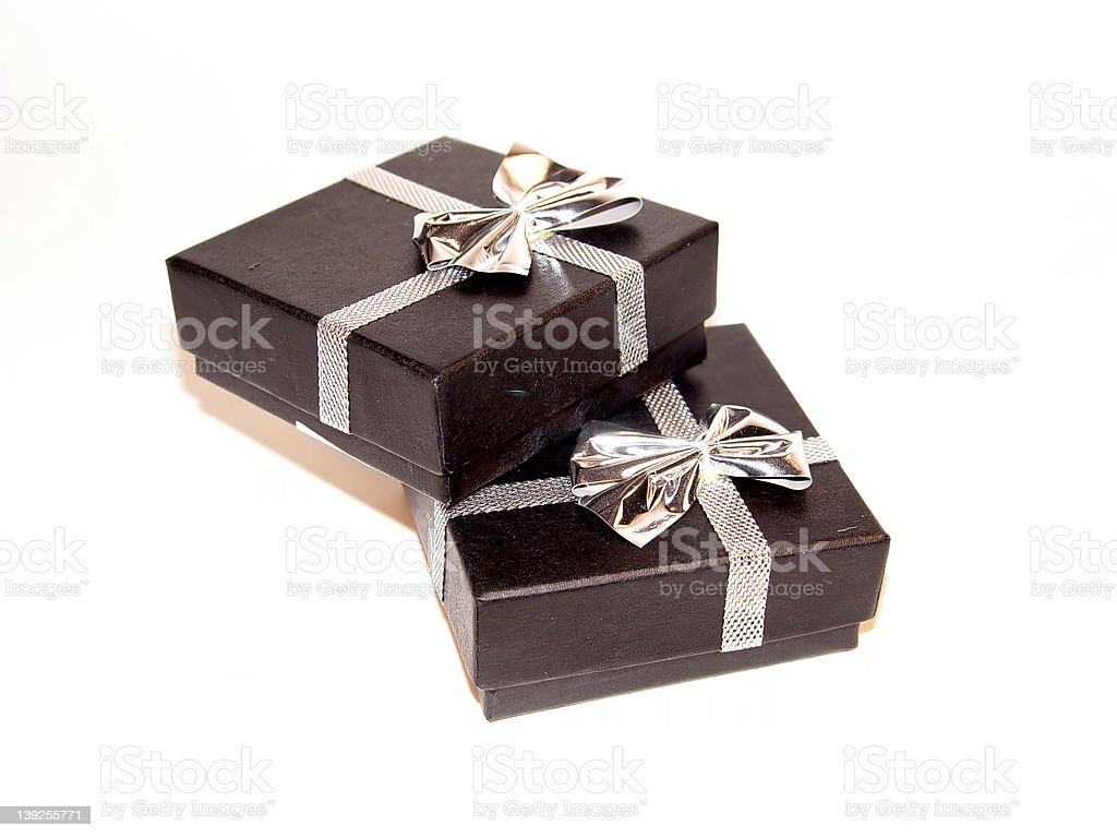 Two Gift Boxes royalty-free stock photo