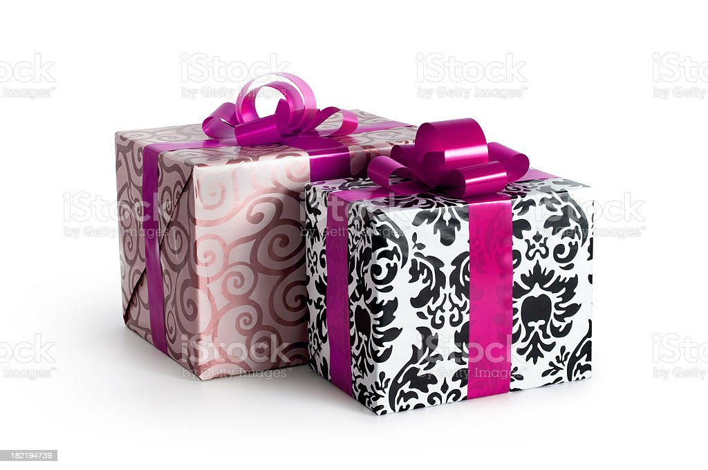 Two Gift Boxes w/clipping path royalty-free stock photo