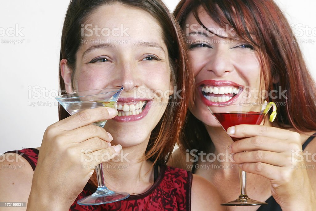 Two girlfriends having good time royalty-free stock photo