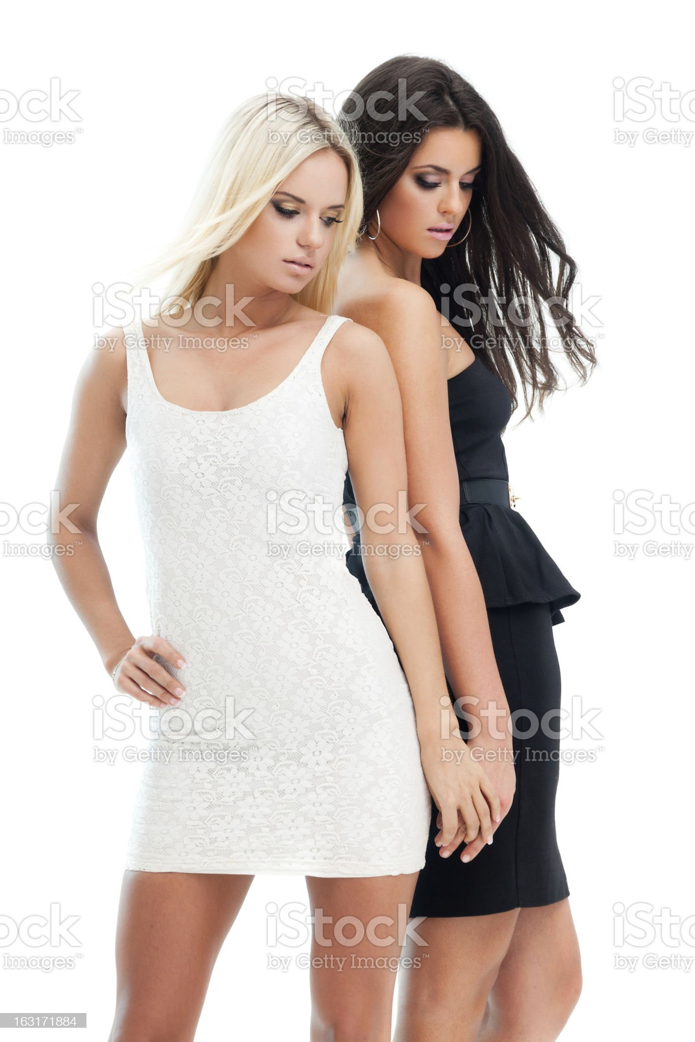 Two girlfriends royalty-free stock photo