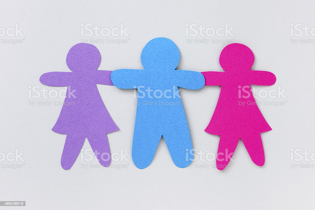 Two girls and a boy royalty-free stock photo