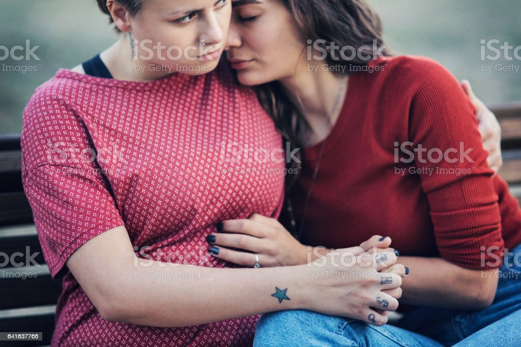 Two girls couple stock photo