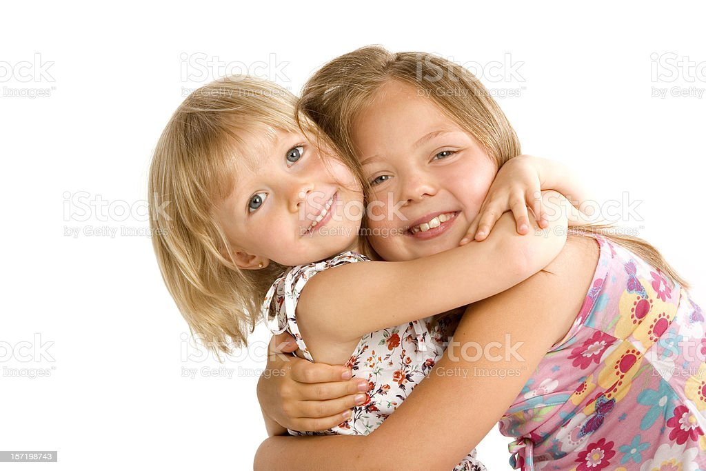 Two Girls Embracing royalty-free stock photo