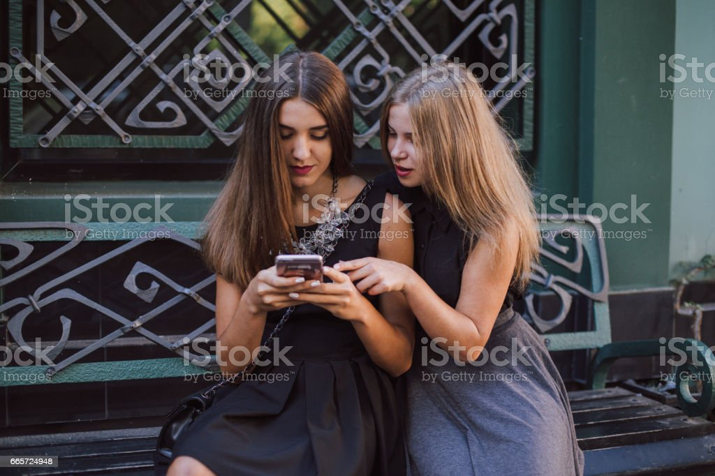 two girls HD stock photo