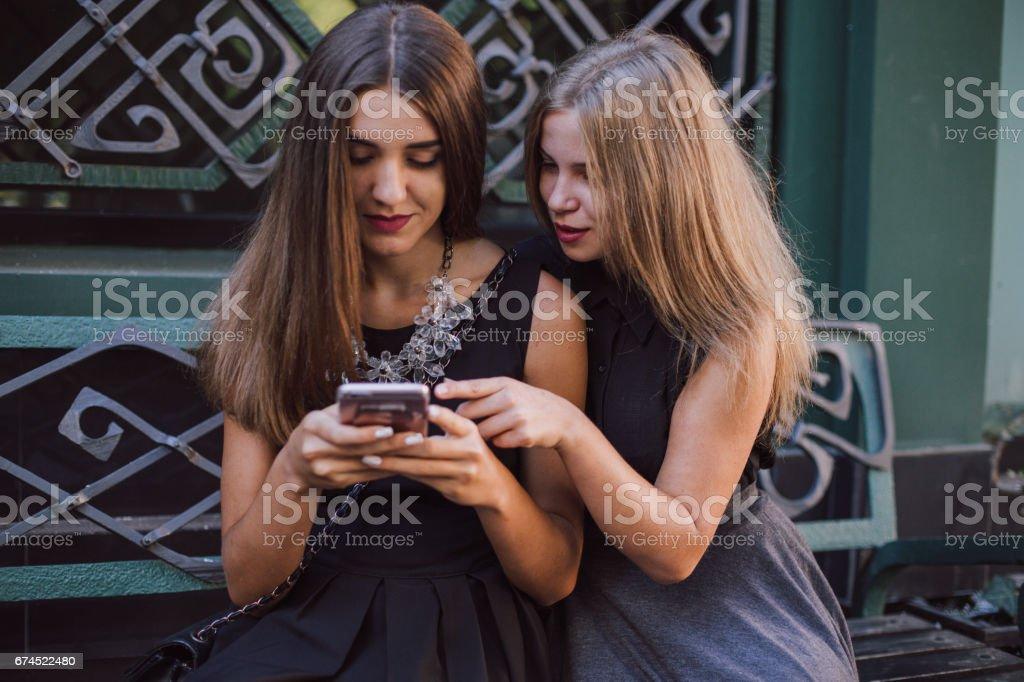 two girls HD stock photo