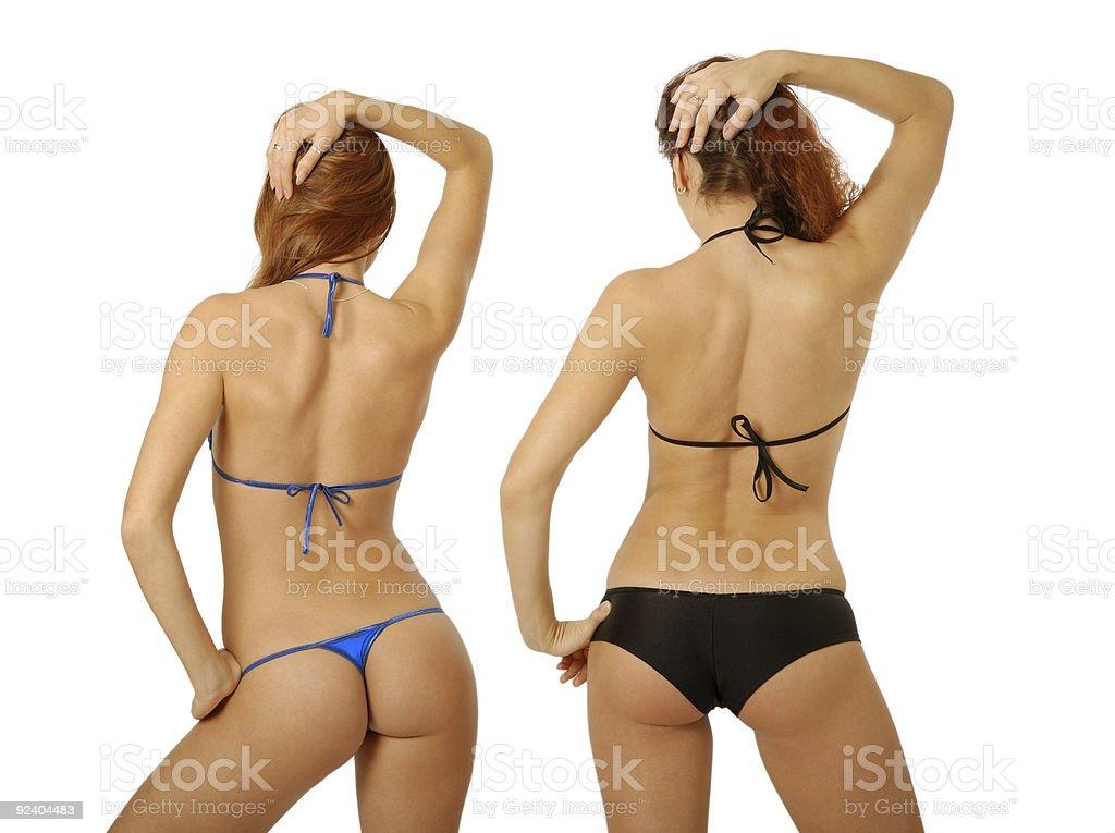 фото сзади бикини