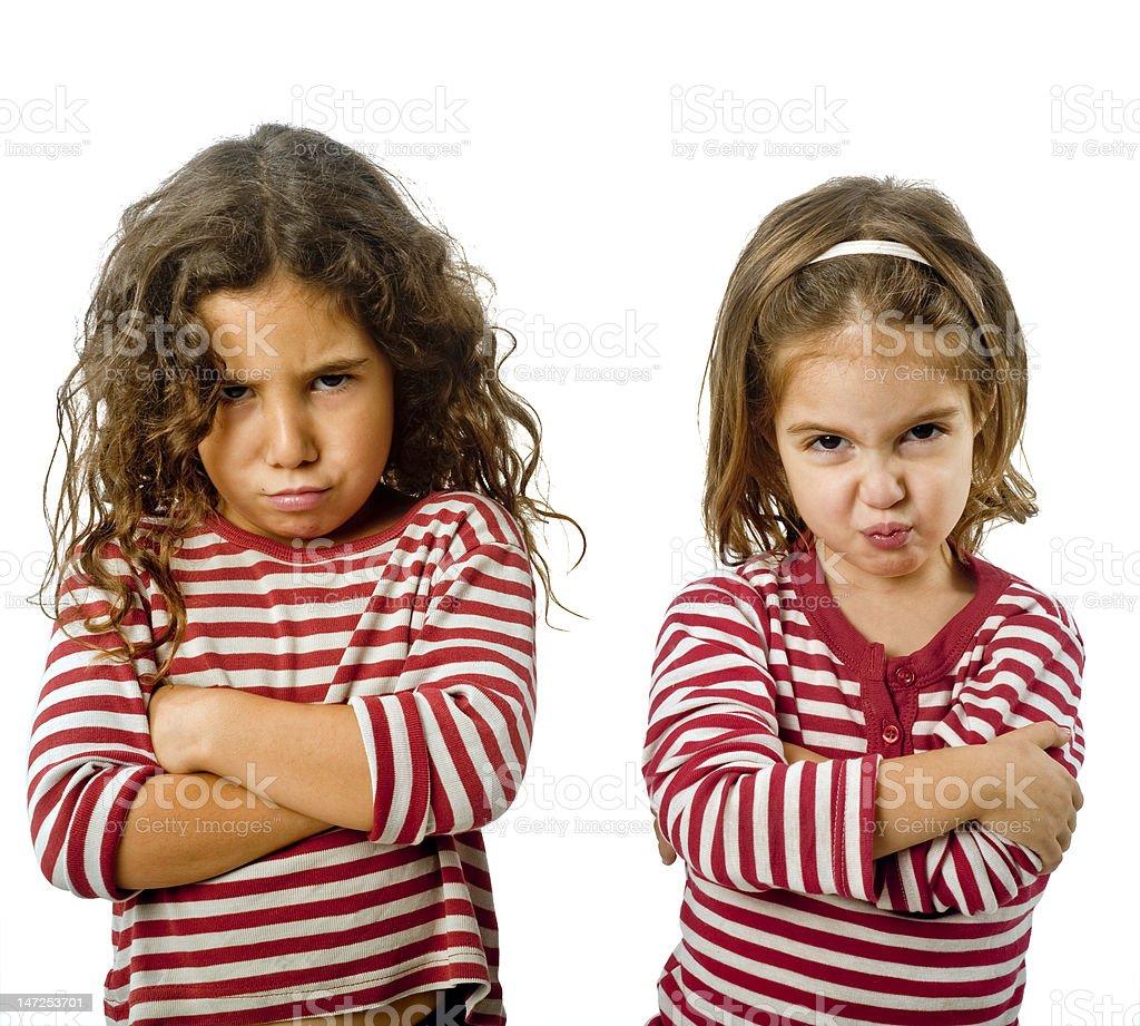 two girls in quarrel royalty-free stock photo