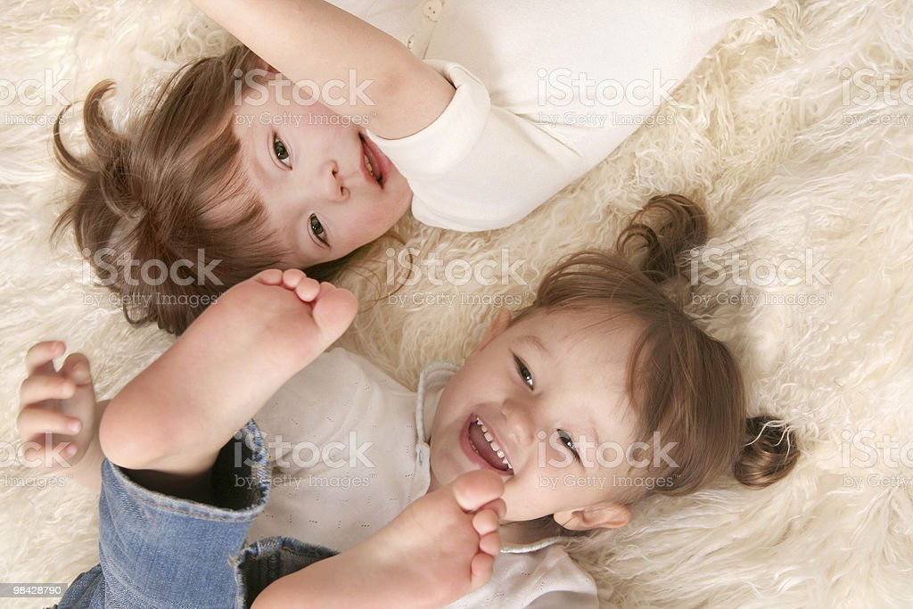 Two girls laughing royalty-free stock photo