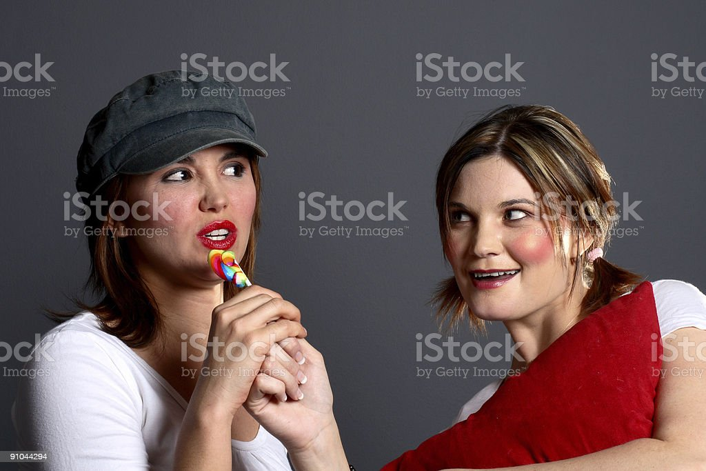 Two girls sexy and child royalty-free stock photo