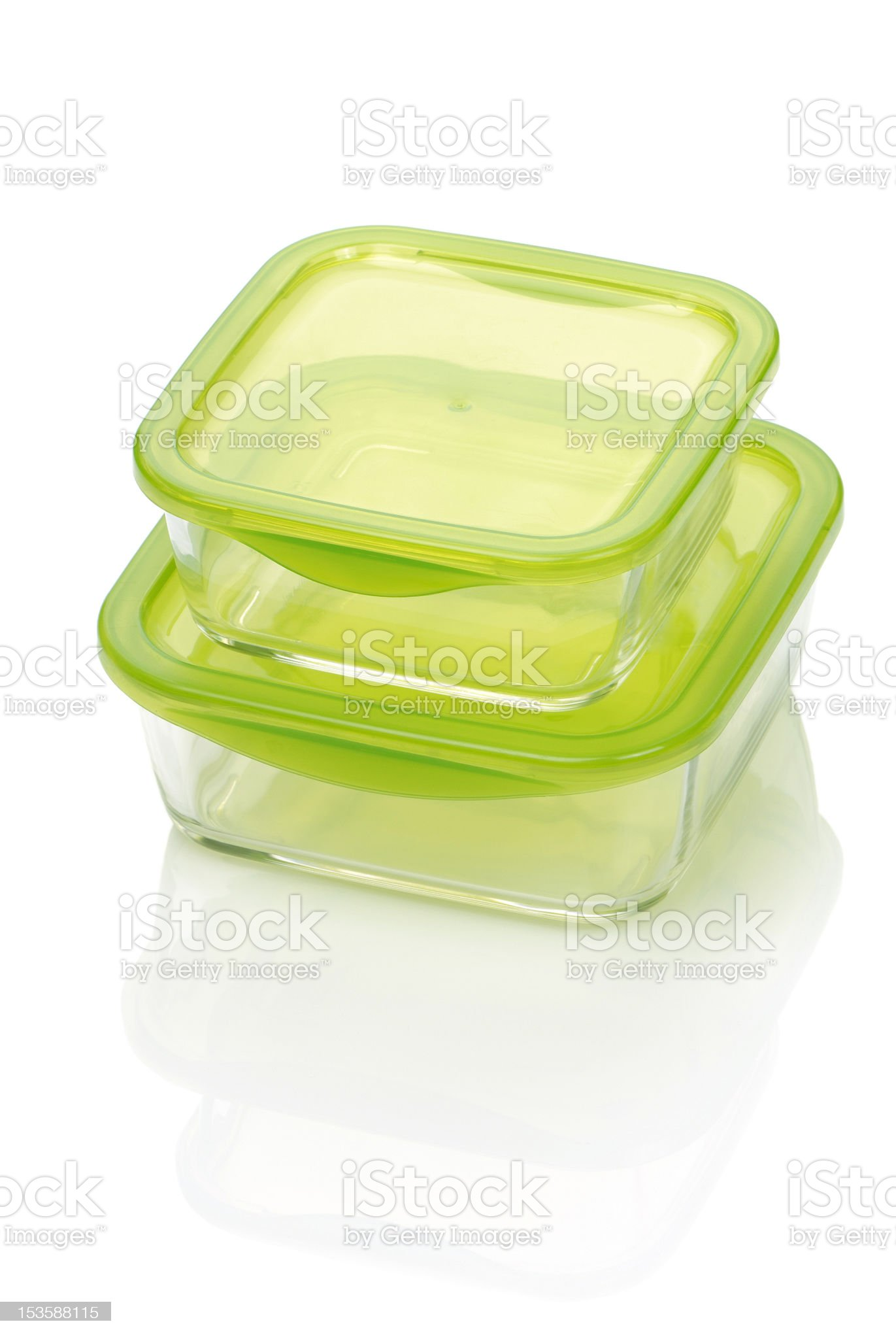 two glass food container royalty-free stock photo