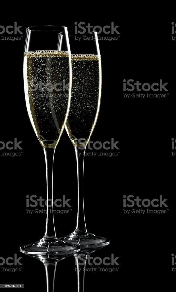 Two glass of champagne royalty-free stock photo