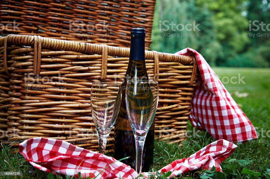 Two Glasses and White Wine royalty-free stock photo