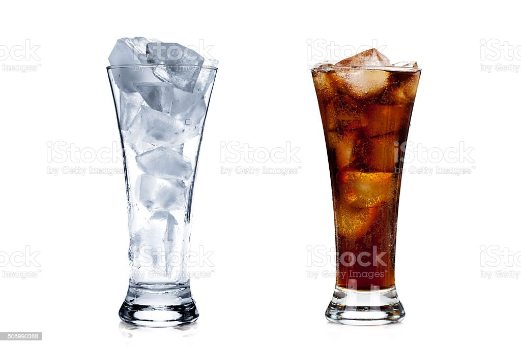 Two glasses isolated on white stock photo