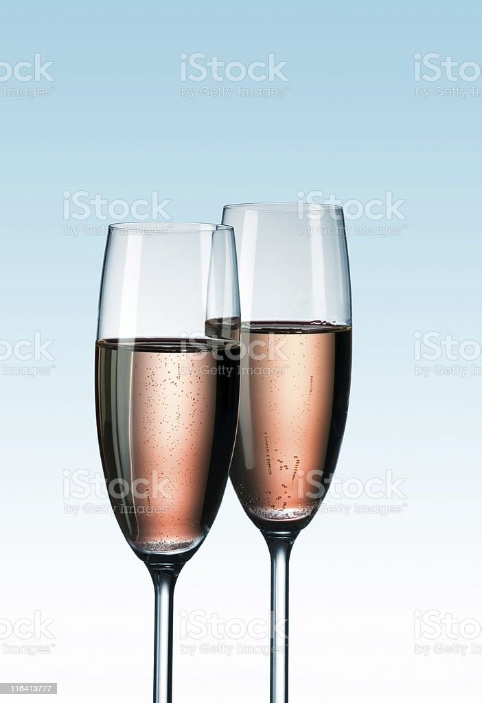 Two glasses of champagne royalty-free stock photo