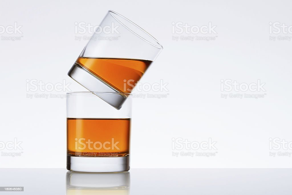 Two glasses of liquid stock photo