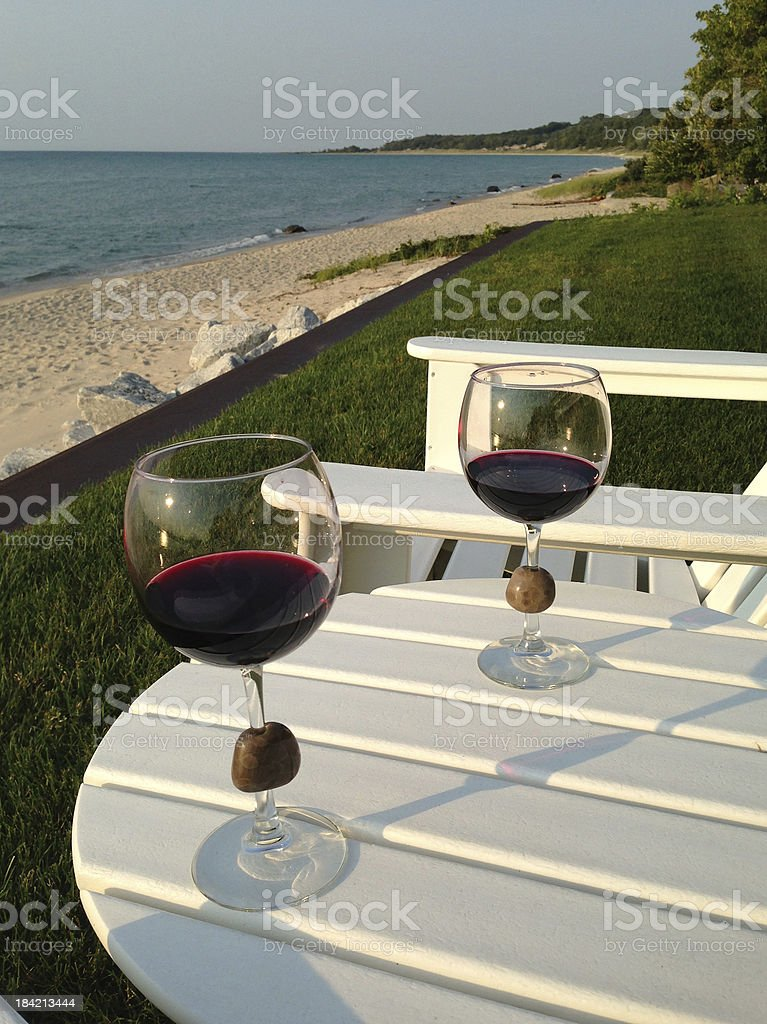 Two Glasses of Red Wine royalty-free stock photo