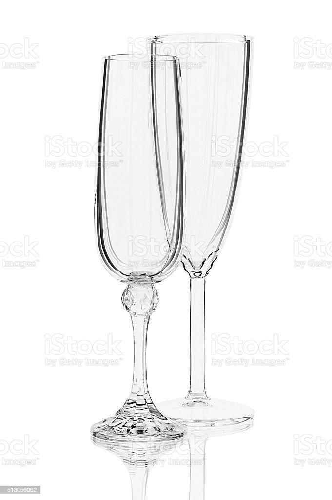Zwei Gläser Wein auf Weißer Hintergrund Lizenzfreies stock-foto