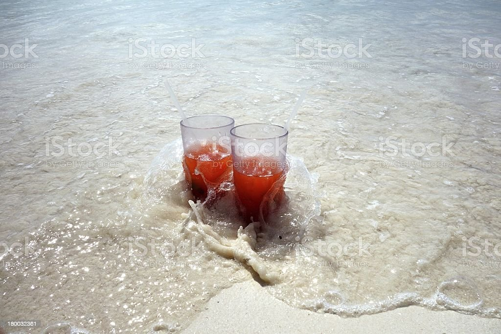 Two glasses with drinks royalty-free stock photo