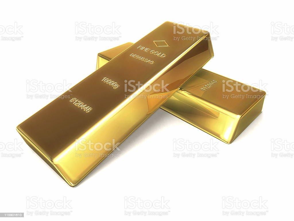 two goldbars stock photo