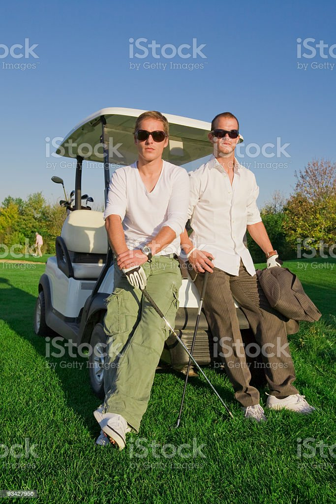 Two Golf Players royalty-free stock photo