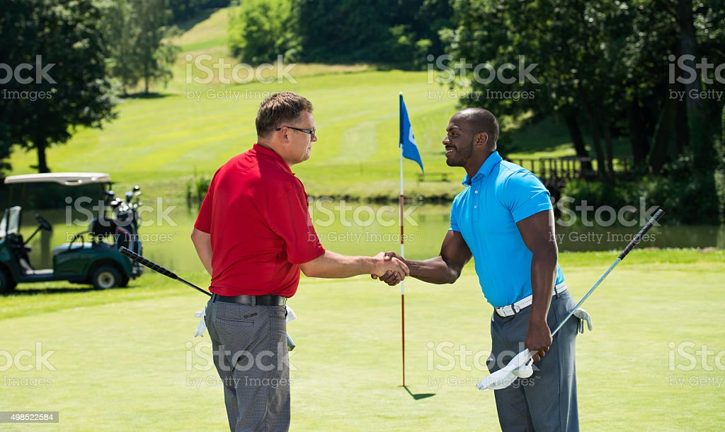 Two Golfplayers stock photo