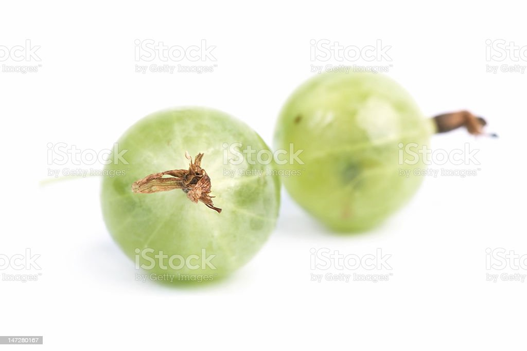 Two  gooseberrys royalty-free stock photo