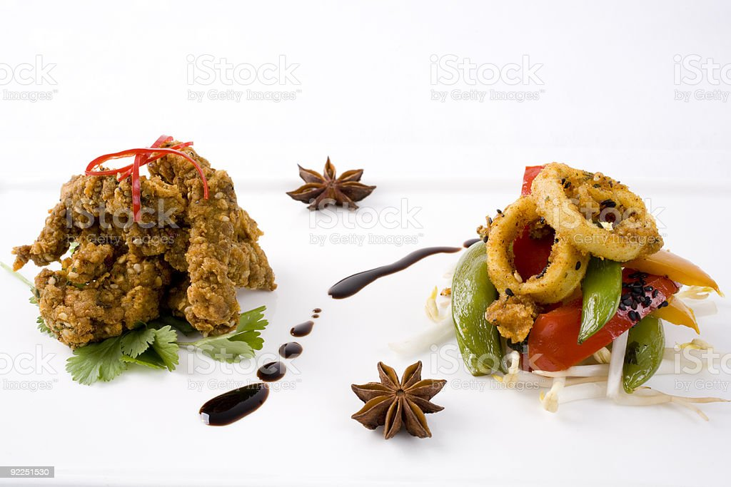 Two Gourmet Starters royalty-free stock photo