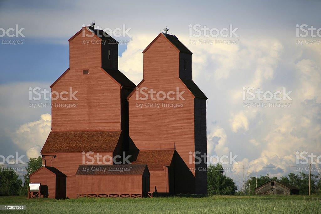 Two Grain Elevators stock photo