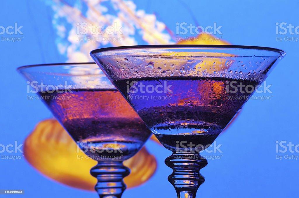Two Grape Martini's royalty-free stock photo
