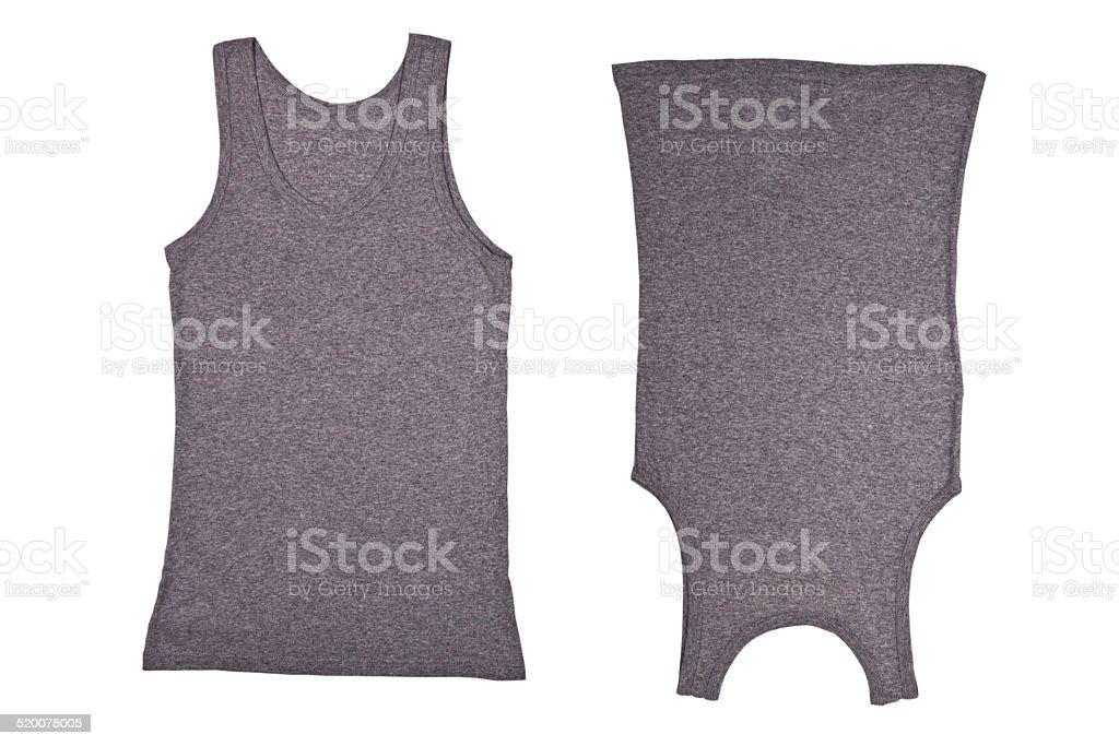 two gray shirts stock photo