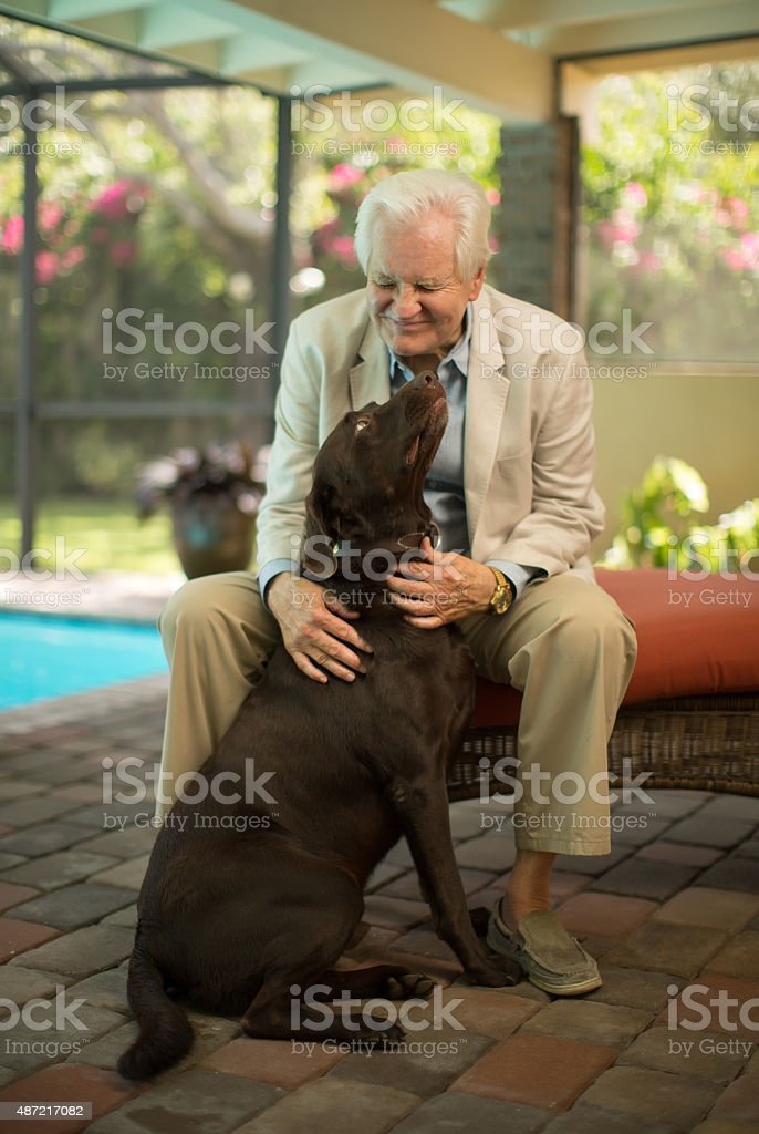 Two great friends stock photo