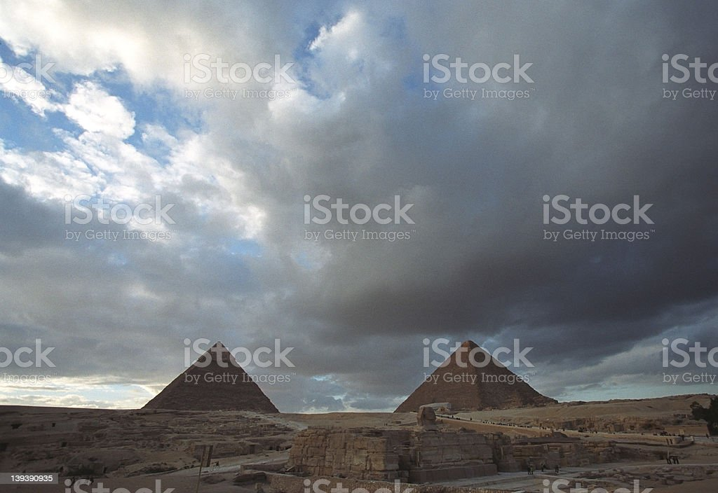 Two Great Pyramids royalty-free stock photo