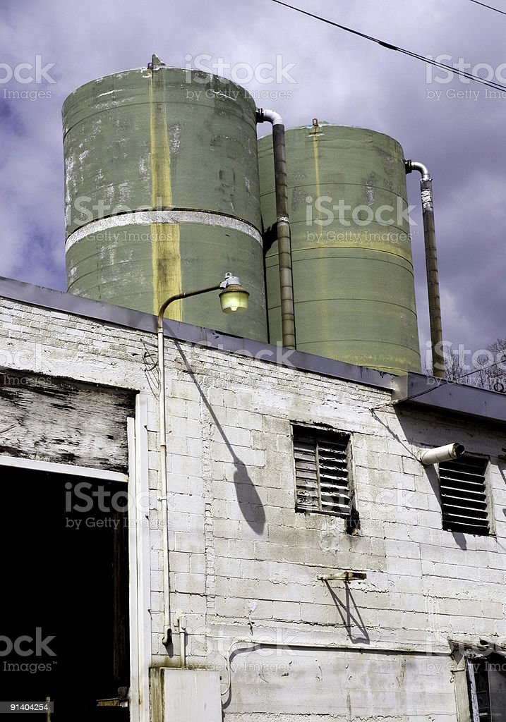 Two Green Towers royalty-free stock photo
