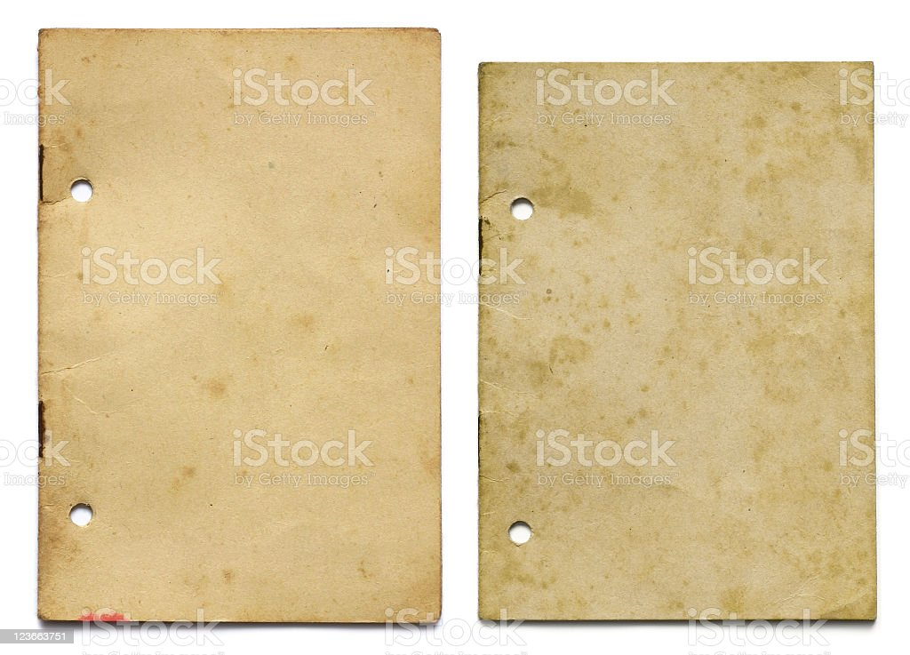 Two grunge booklets royalty-free stock photo