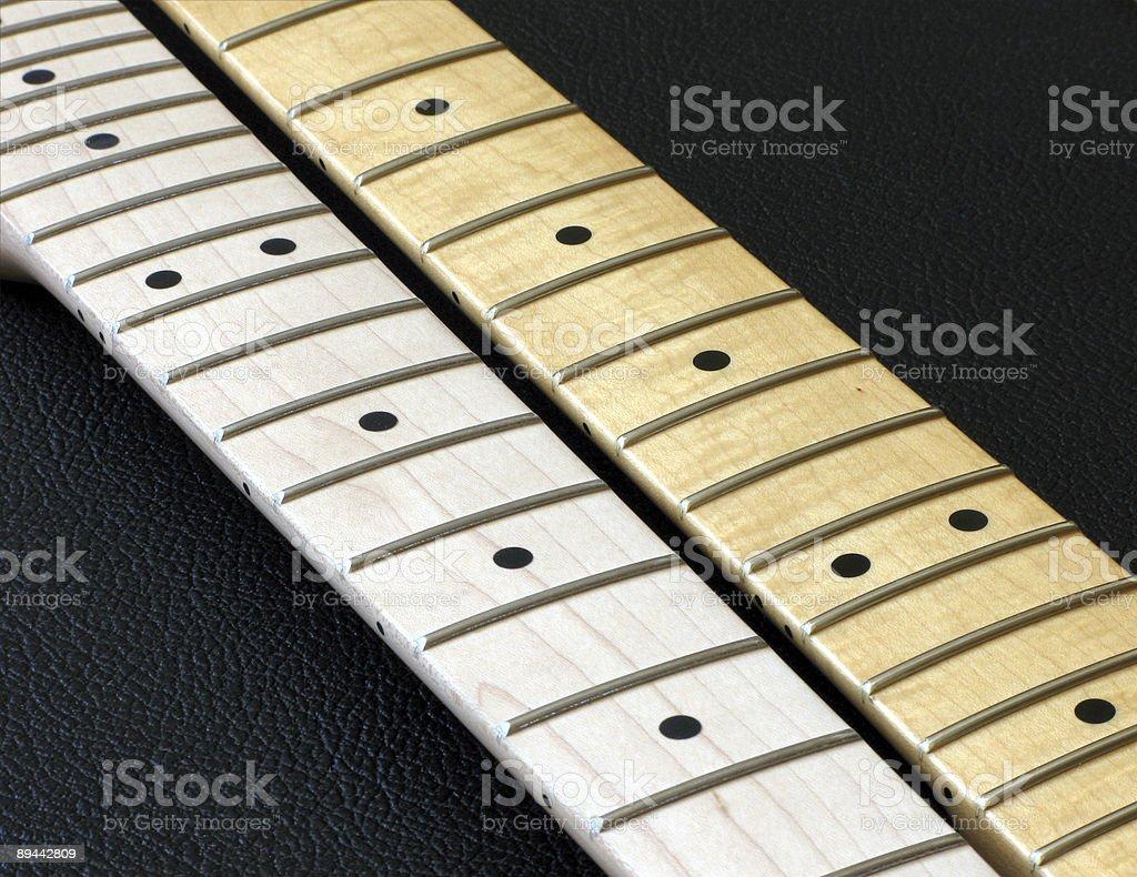 Two Guitar Necks royalty-free stock photo