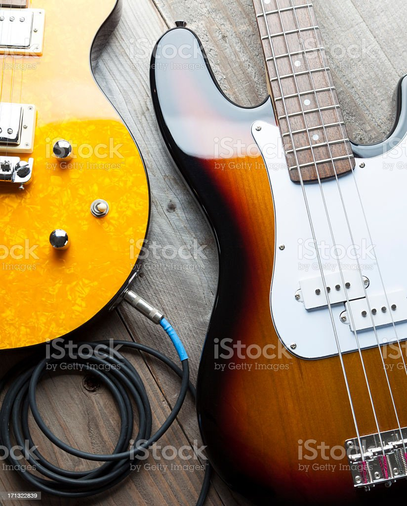 Two Guitars stock photo