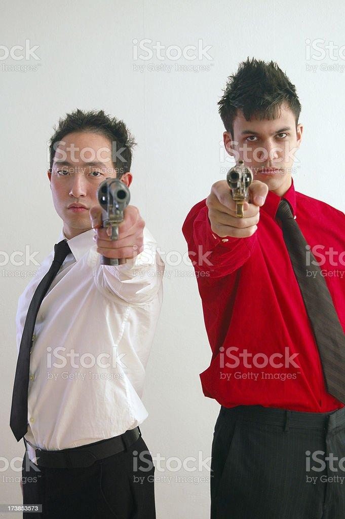 Two Gunmen stock photo