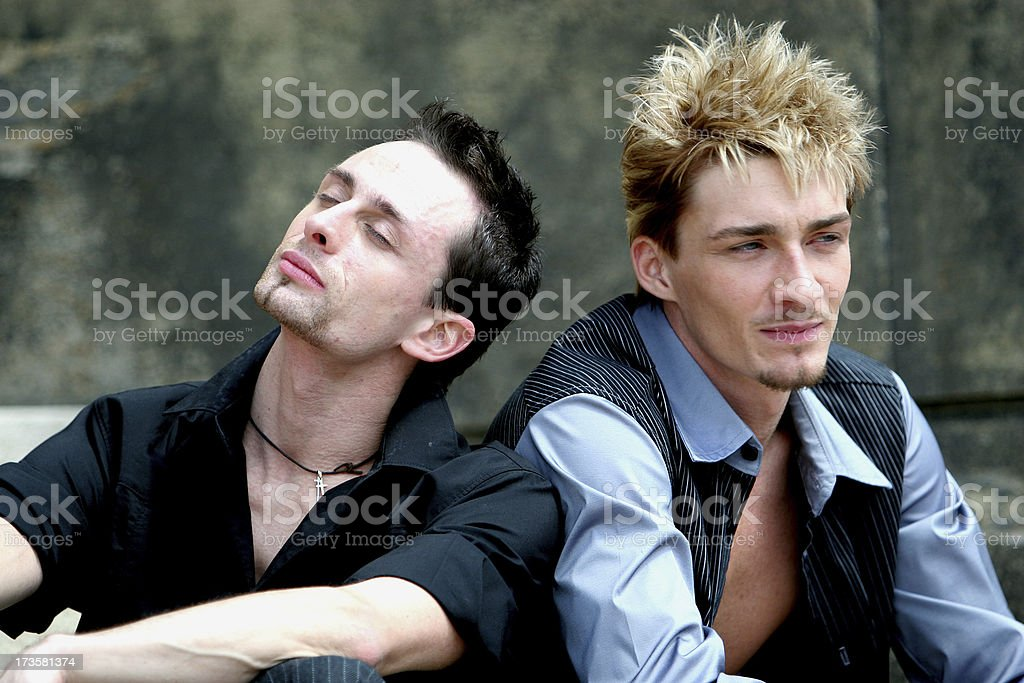 Two guys. royalty-free stock photo