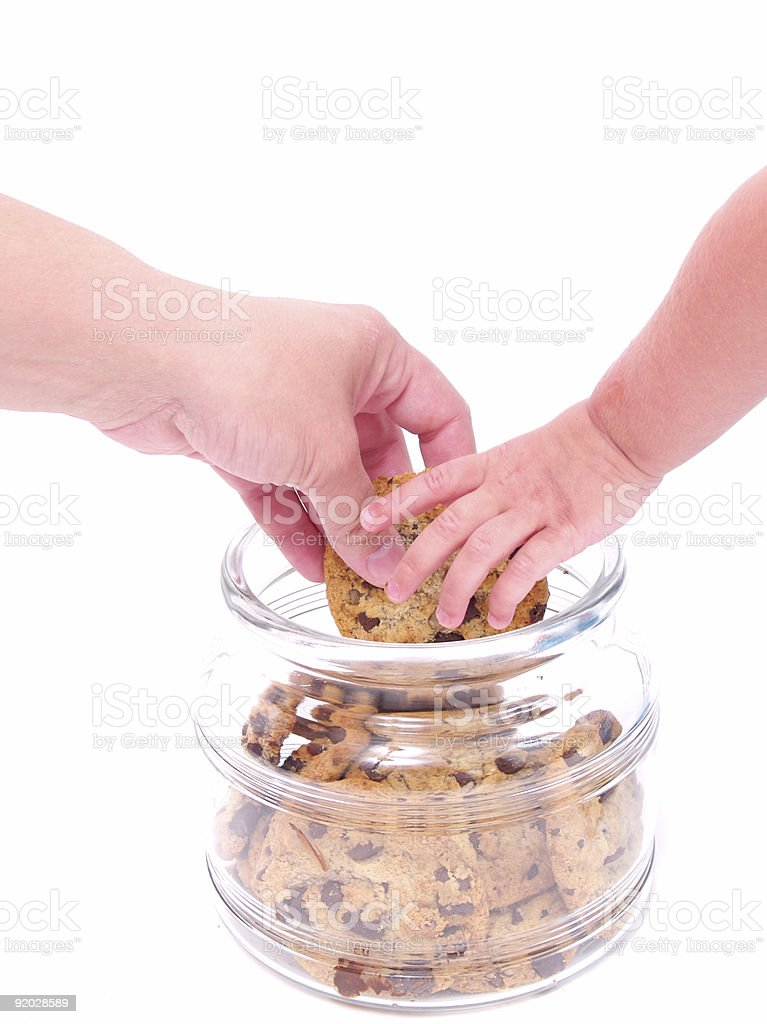 Two Hands for Cookies royalty-free stock photo