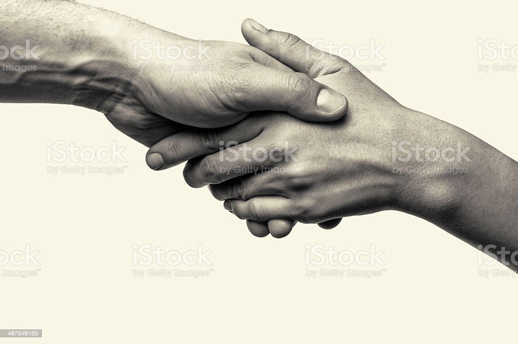 Two hands - help stock photo