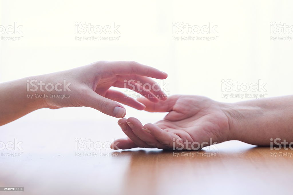 Two hands isolated stock photo