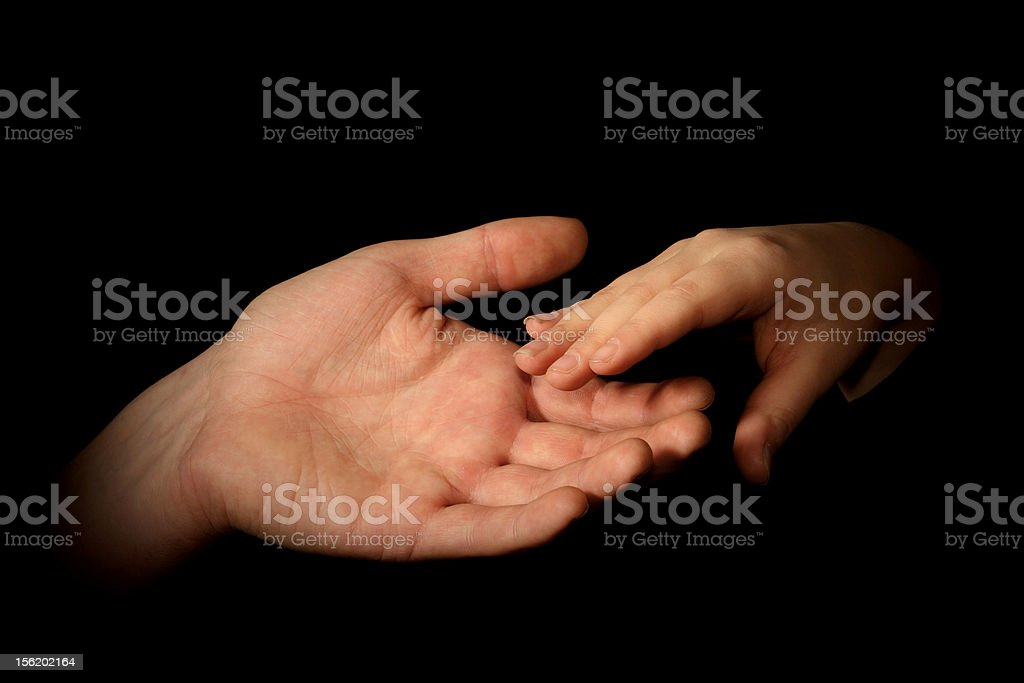Two hands royalty-free stock photo