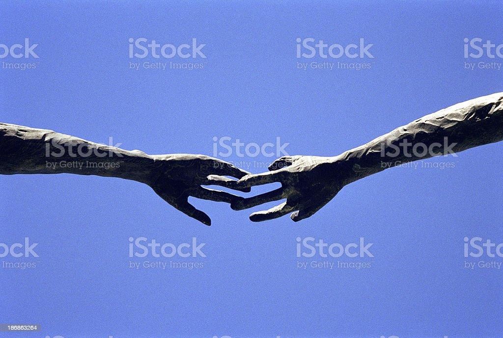 Two Hands Touch stock photo